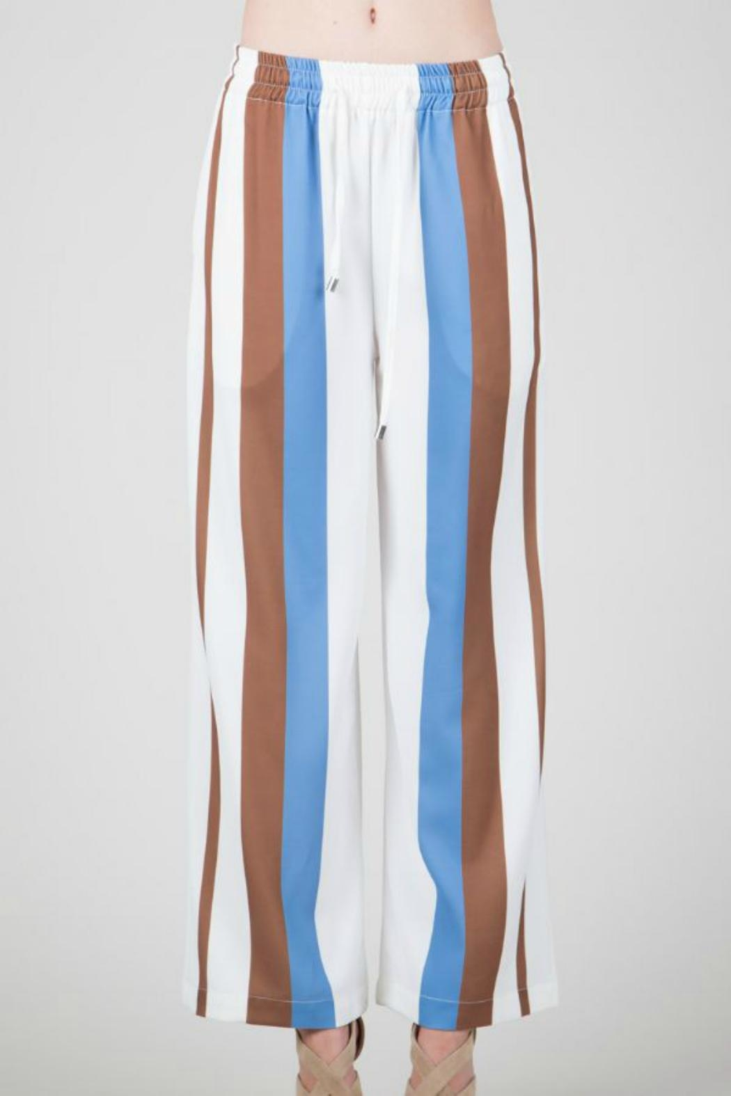 BEULAH STYLE Sporty Crepe Trousers - Main Image