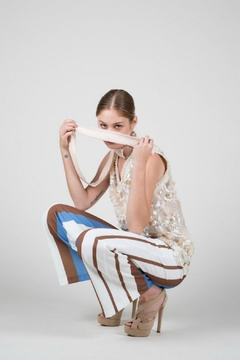 BEULAH STYLE Sporty Crepe Trousers - Alternate List Image
