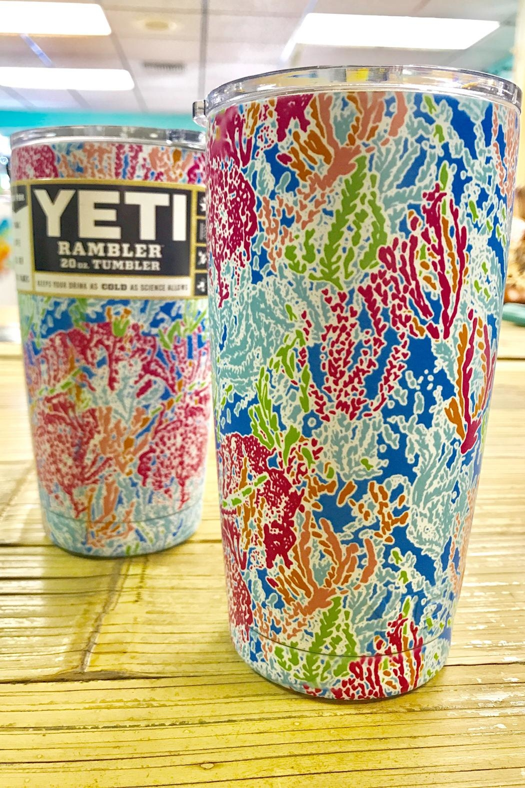 Sporty Girl Apparel  20oz Coral Tumbler - Front Full Image