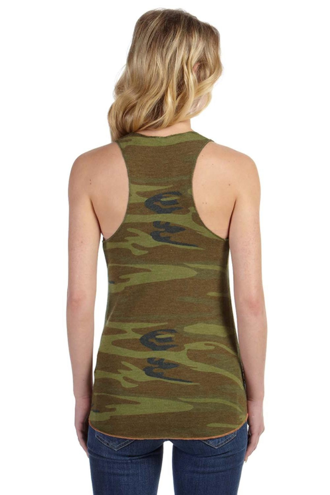 Sporty Girl Apparel  Army Camo Tank - Front Full Image