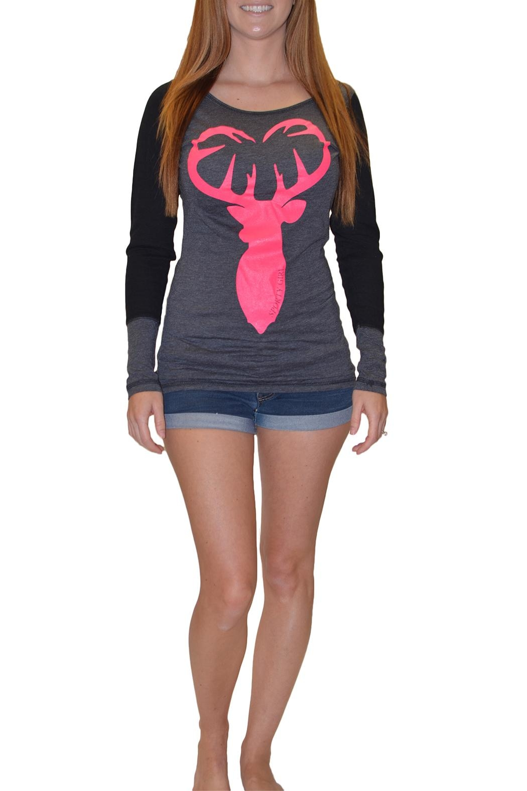 Sporty Girl Apparel  Buck Heart Gray - Front Cropped Image