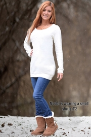 Sporty Girl Apparel  Cream Sweater Tunic - Product Mini Image