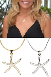 Sporty Girl Apparel  Crystal Starfish Necklace - Front cropped