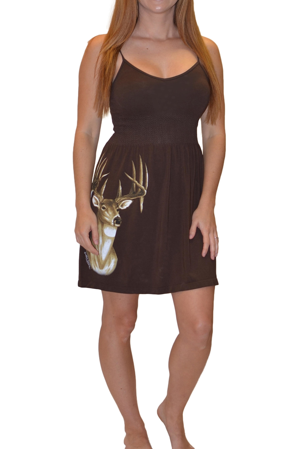 Sporty Girl Apparel  Deer Head Onsize - Front Cropped Image
