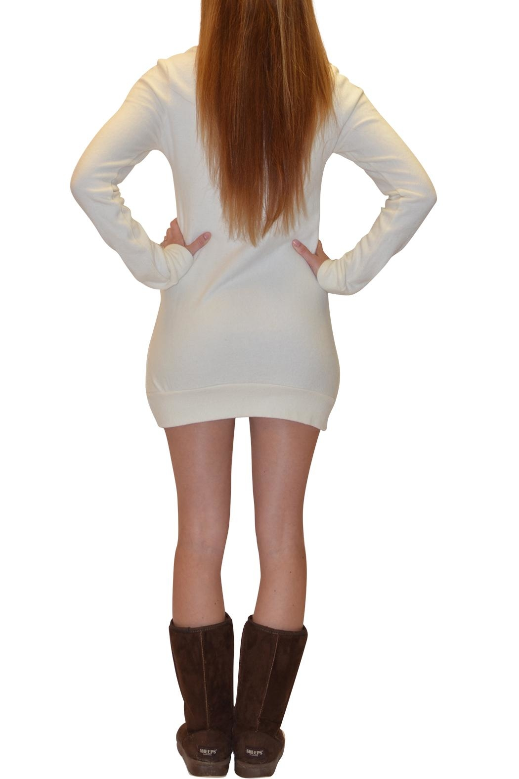 Sporty Girl Apparel  Deer Sweater Dress - Side Cropped Image