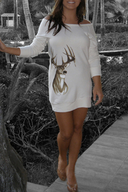 Sporty Girl Apparel  Deer Sweater Dress - Other
