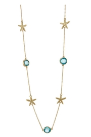Sporty Girl Apparel  Gold Starfish Necklace - Front cropped