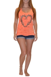 Sporty Girl Apparel  Heart Antler Tank - Front cropped