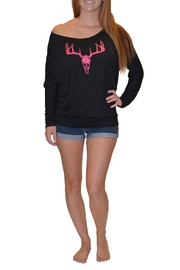 Sporty Girl Apparel  Offshoulder Deer Skull - Product Mini Image