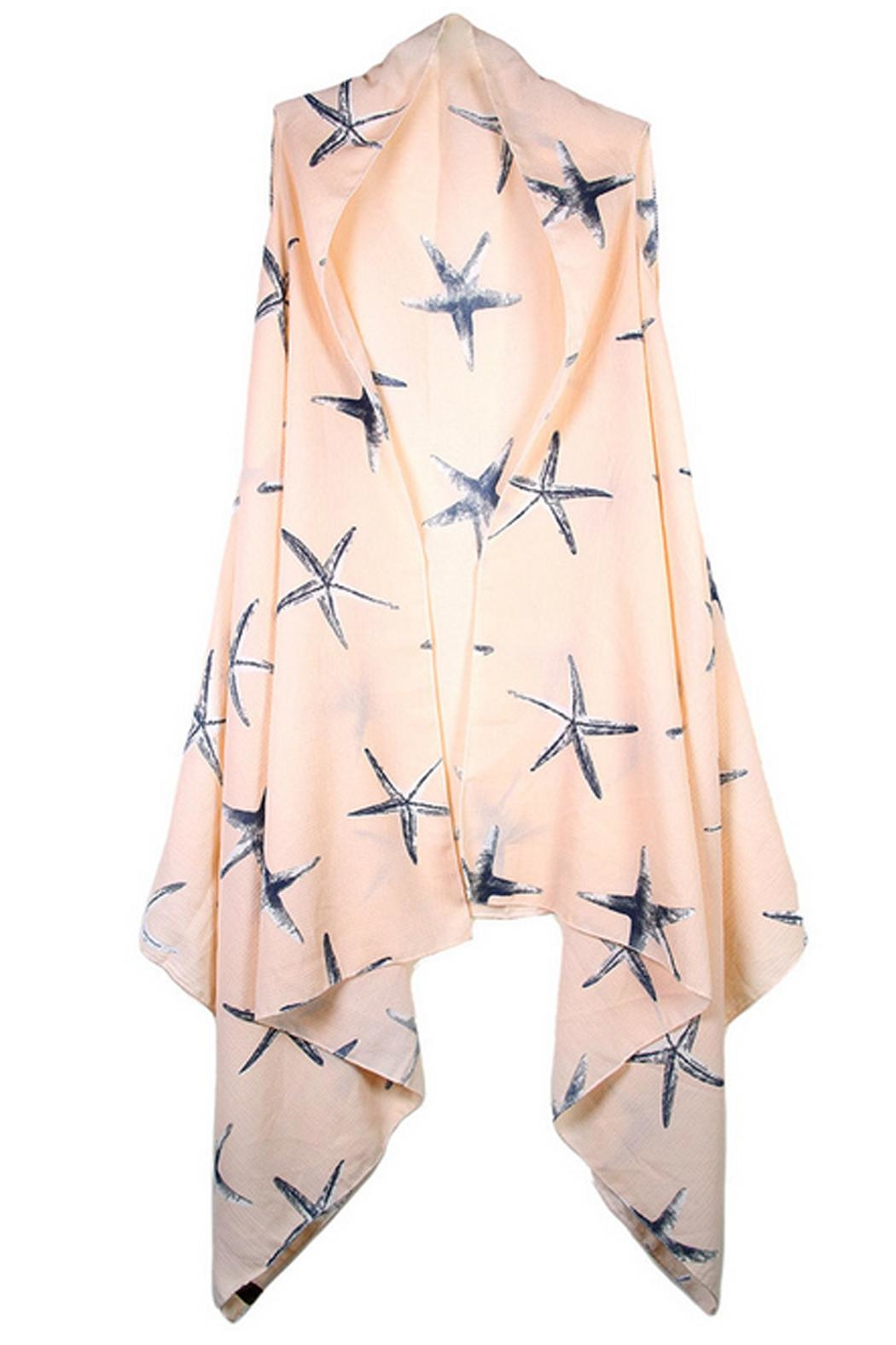 Sporty Girl Apparel  Peach Starfish Cardigan - Front Cropped Image