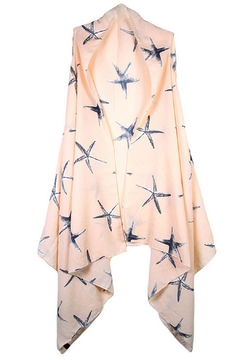 Sporty Girl Apparel  Peach Starfish Cardigan - Product List Image