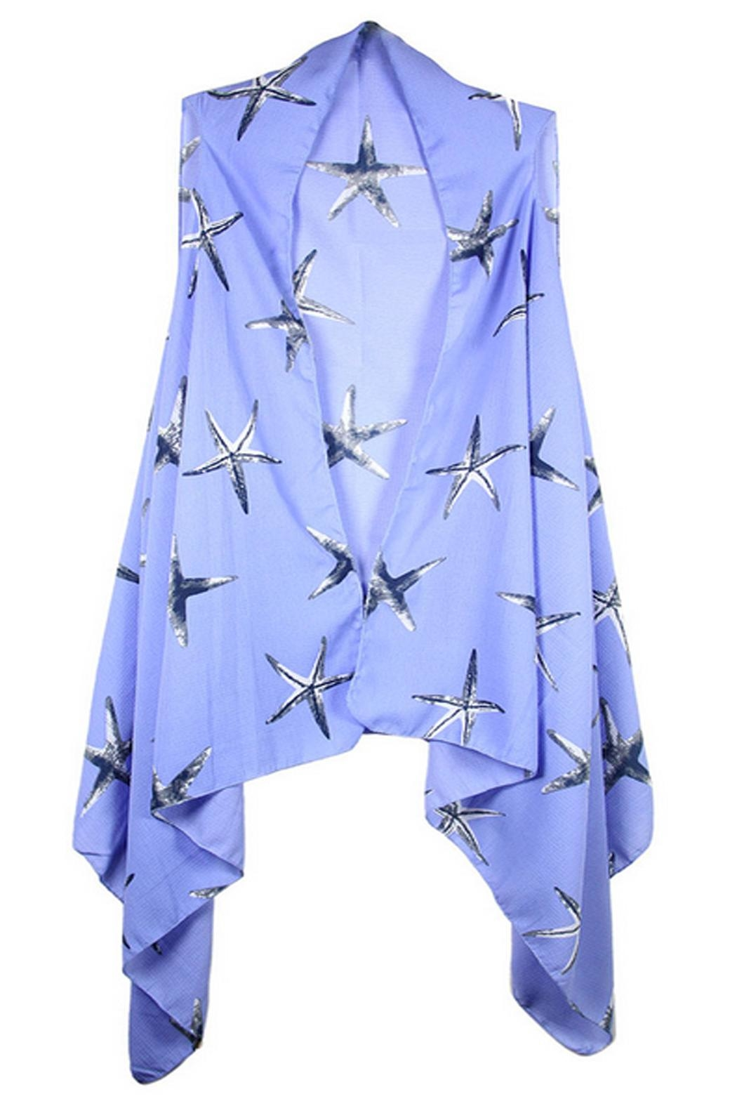 Sporty Girl Apparel  Periwinkle Starfish Vest - Main Image