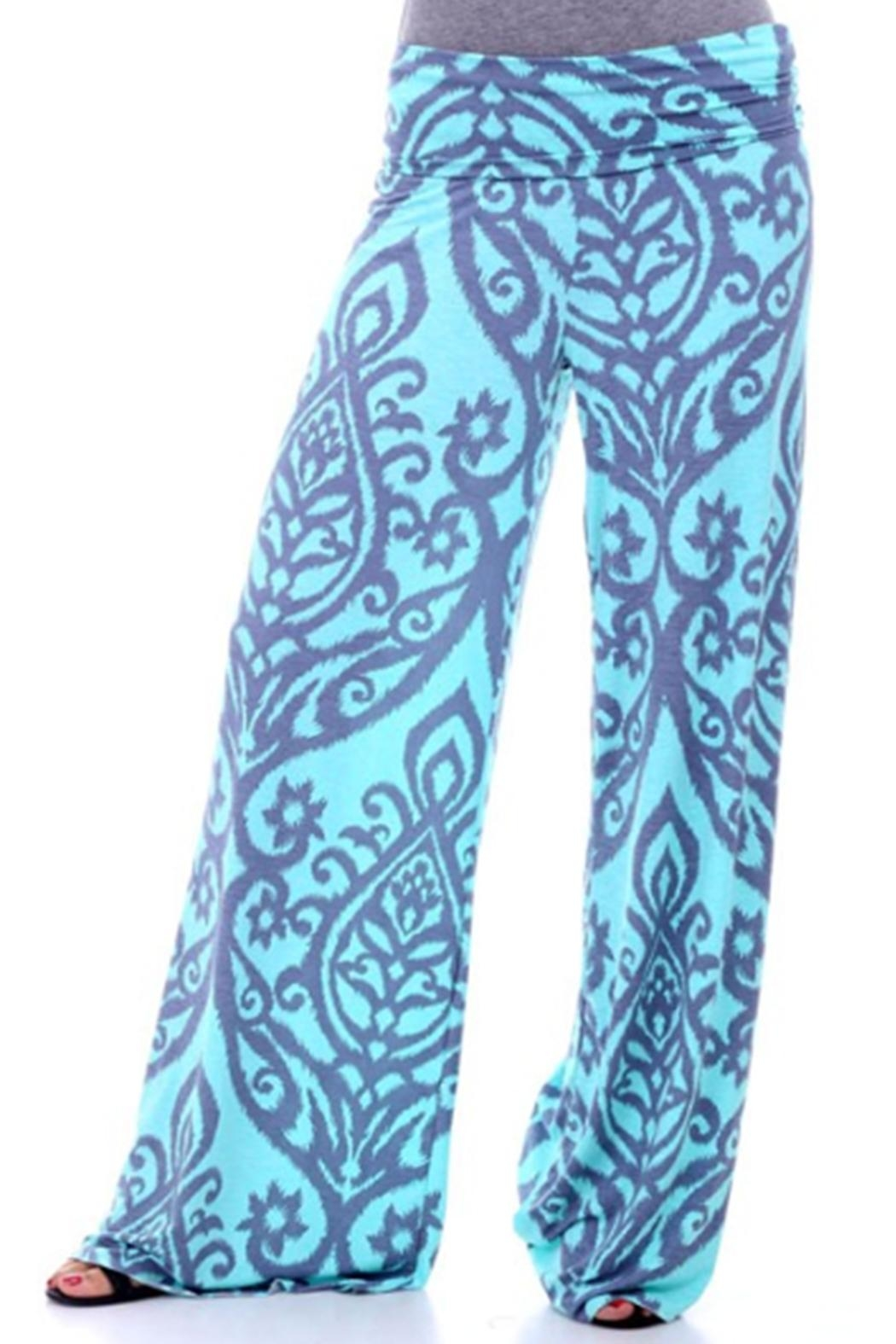 Sporty Girl Apparel  Print Palazzo Pant - Front Cropped Image