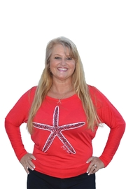 Sporty Girl Apparel  Red Starfish Longsleeve - Front cropped
