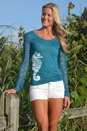 Sporty Girl Apparel  Teal Seahorse Lace - Product Mini Image