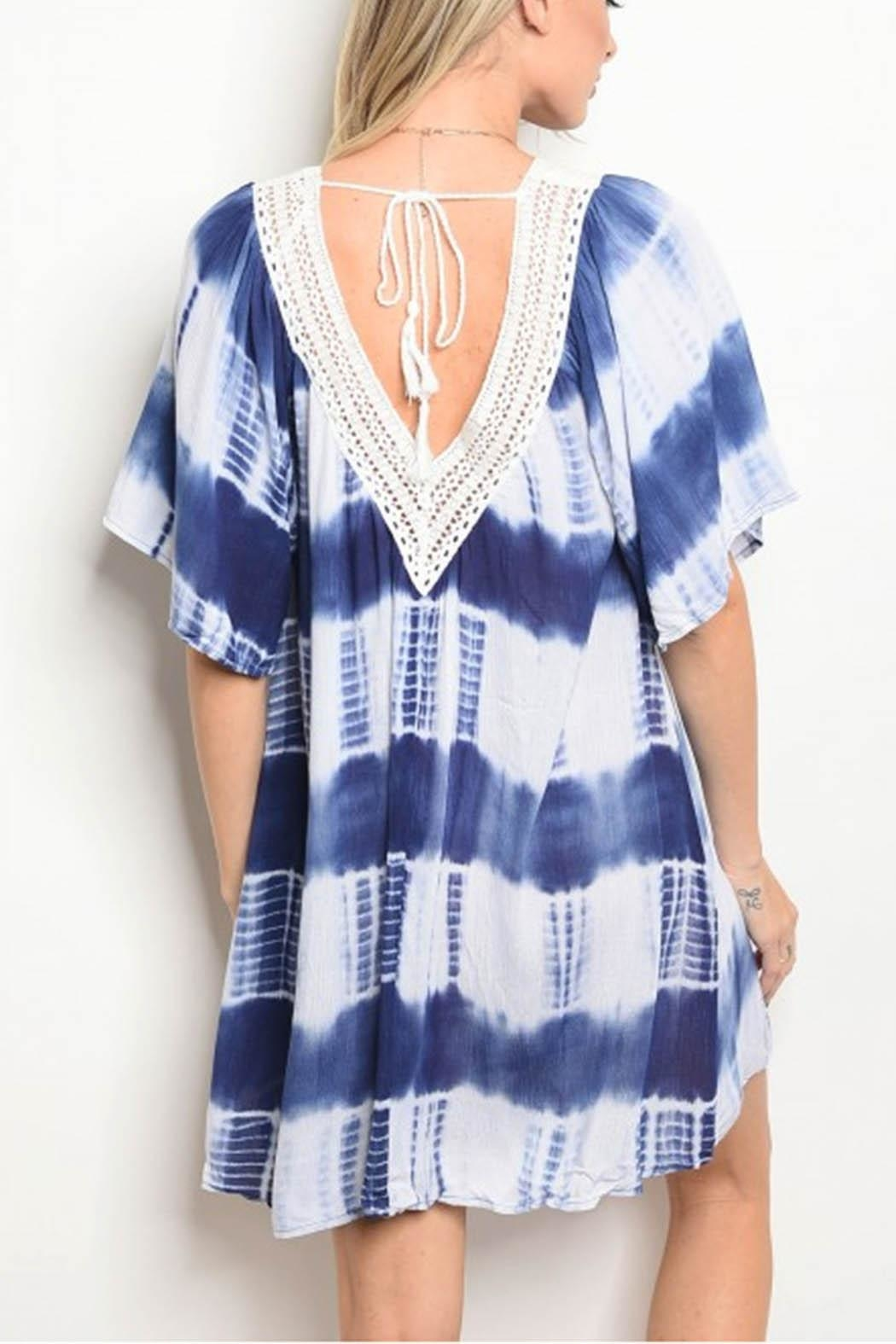 Sporty Girl Apparel  Tiedye Blue Dress - Front Full Image
