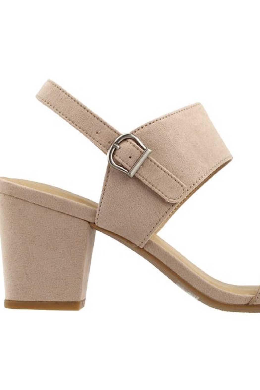 Chinese Laundry Spot On Nude Suede Heel - Front Full Image