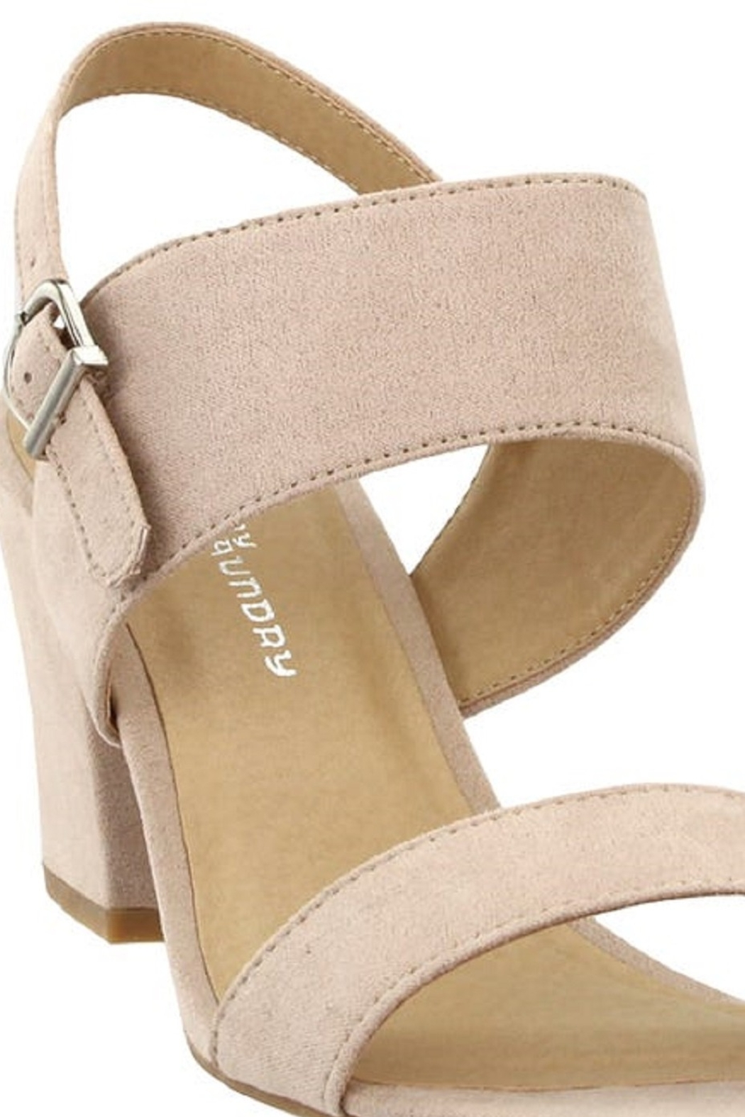 Chinese Laundry Spot On Nude Suede Heel - Back Cropped Image