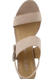 Chinese Laundry Spot On Nude Suede Heel - Front cropped