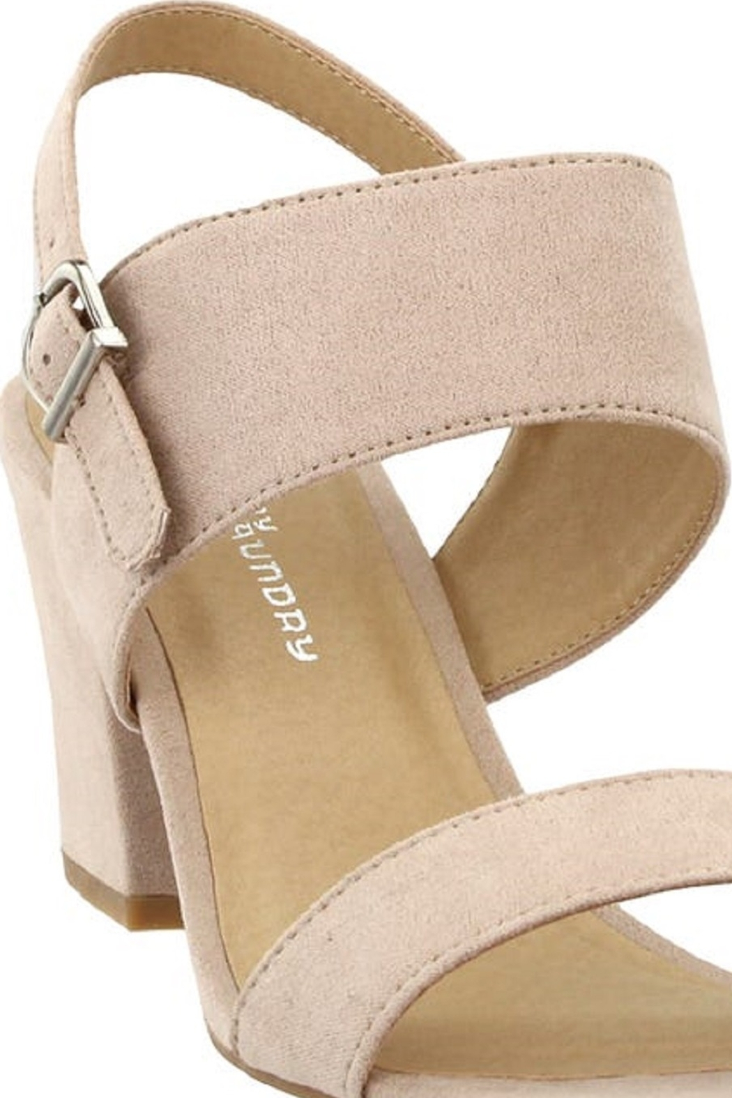 Chinese Laundry Spot On Nude Suede Heel - Side Cropped Image