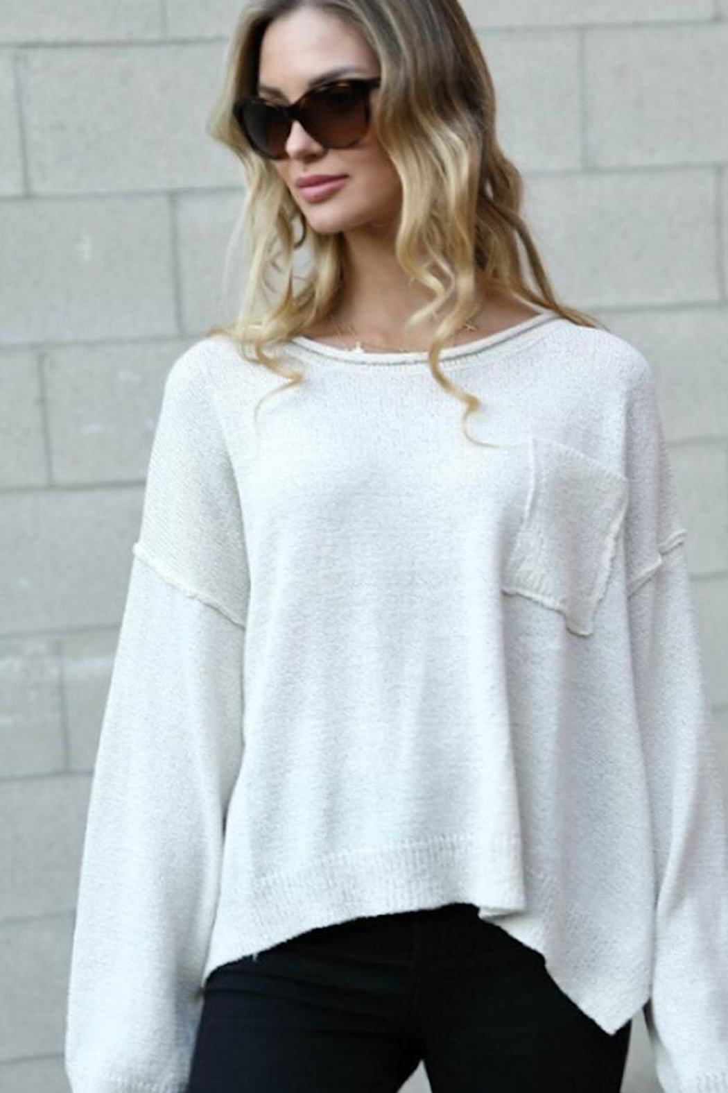 Spotlite Round Neck Top - Front Cropped Image