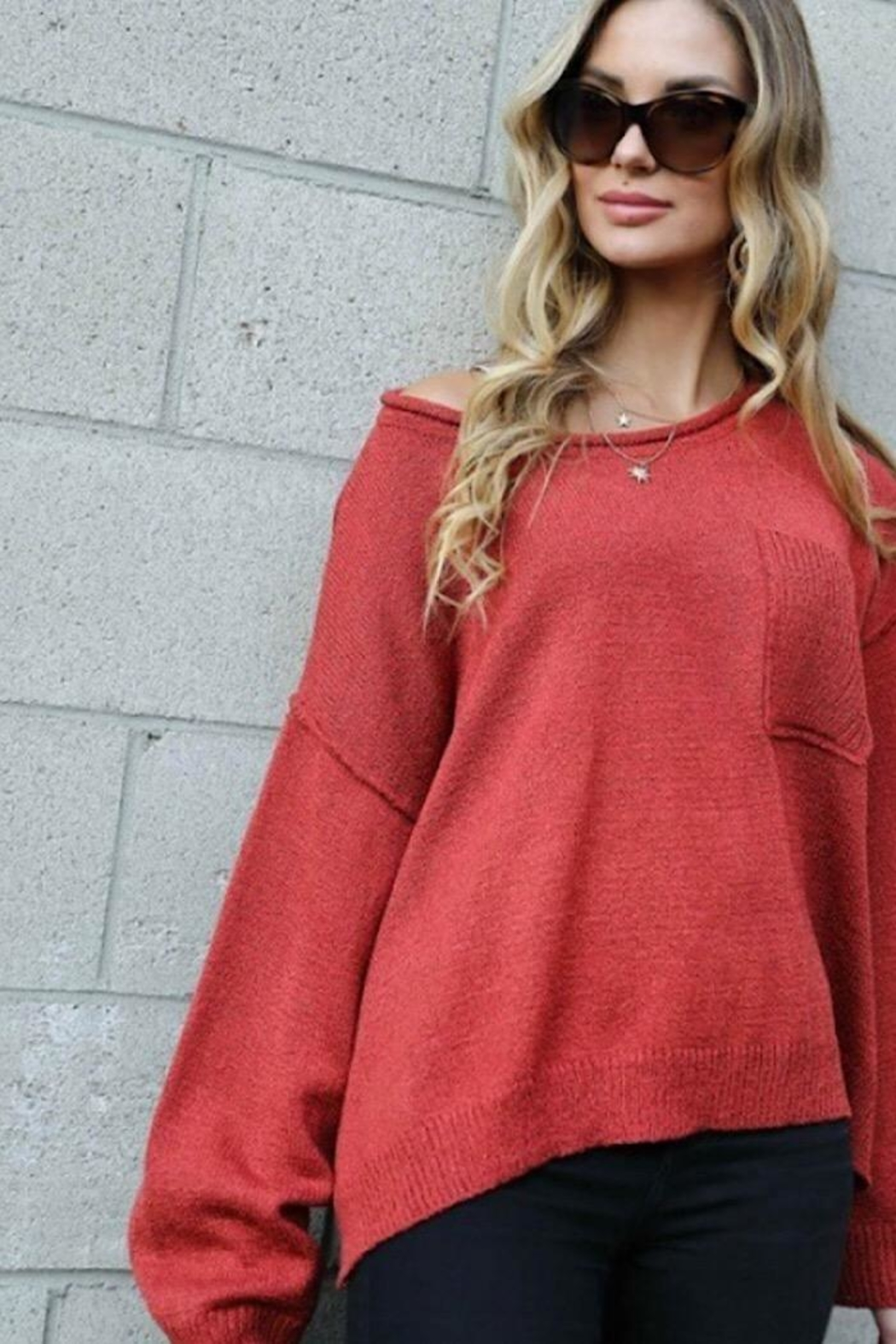 Spotlite Round Neck Top - Side Cropped Image