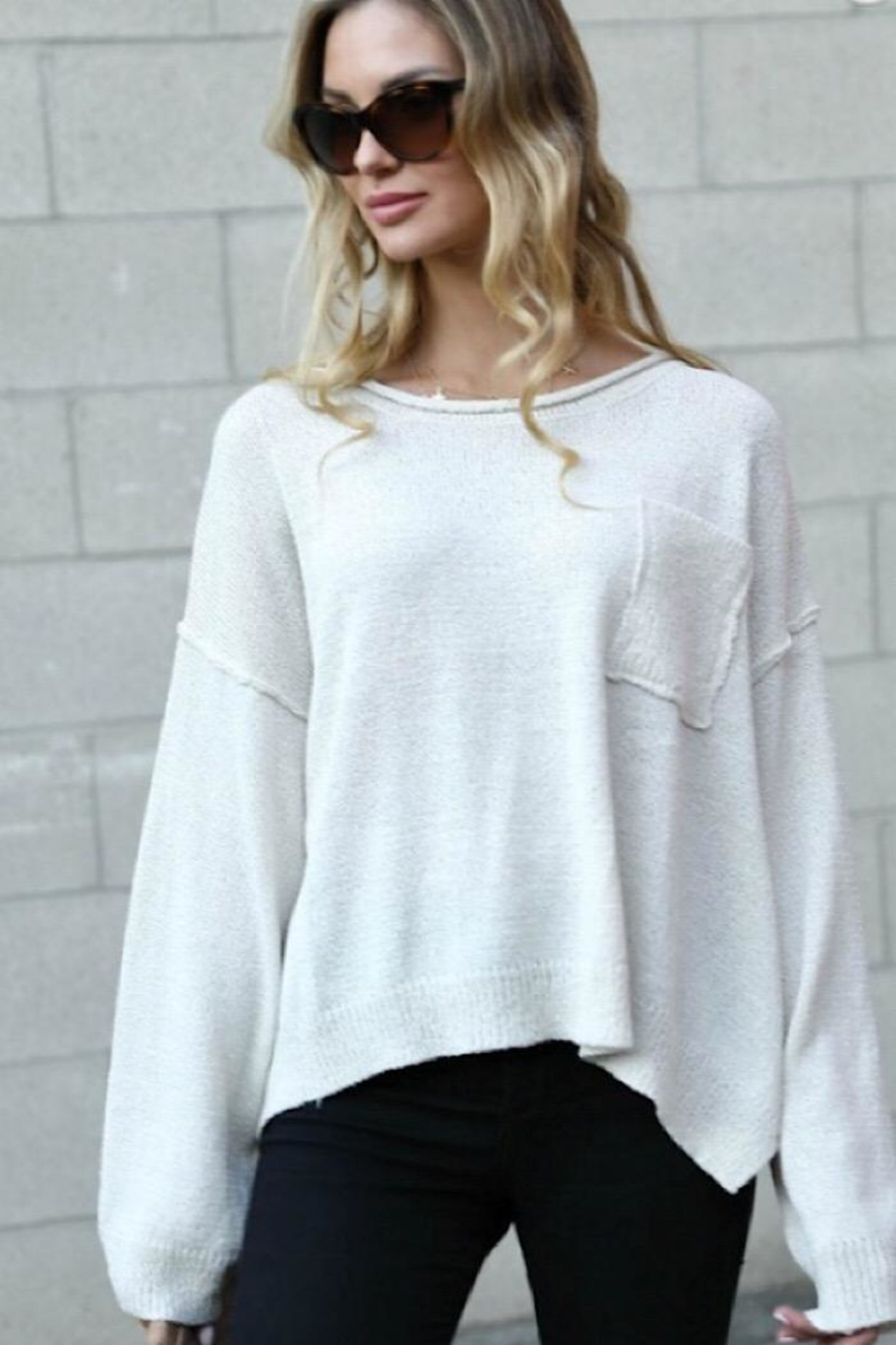 Spotlite Top Pocket Sweater - Front Cropped Image