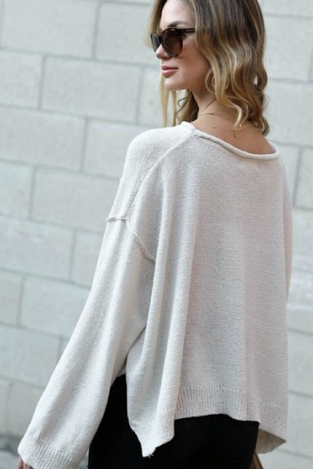 Spotlite Top Pocket Sweater - Front Full Image