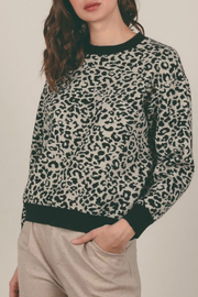 Molly Bracken Spotted Animal Print Sweater - Front cropped