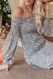 Glam Spotted Around Town dress - Front cropped