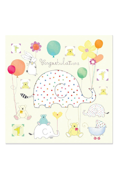 Papyrus Spotted Elephant Baby Card - Alternate List Image