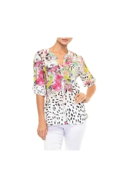 Alison Sheri Spotted Floral Blouse - Front cropped