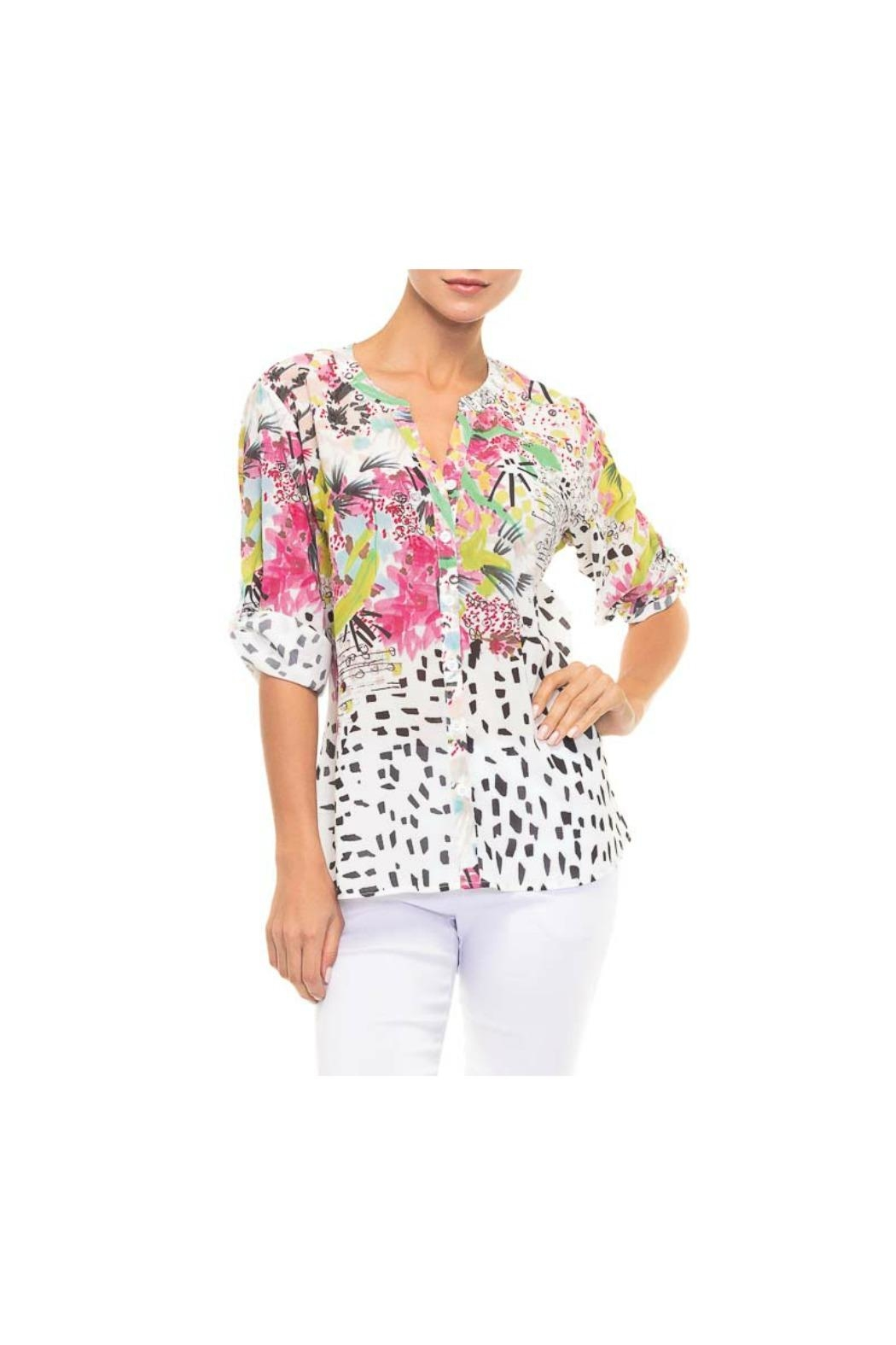 Alison Sheri Spotted Floral Blouse - Main Image