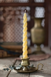 Beacon Candle Company Sprial Beeswax Taper - Product Mini Image