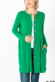 Lyn -Maree's Spring Button Cardi - Front cropped