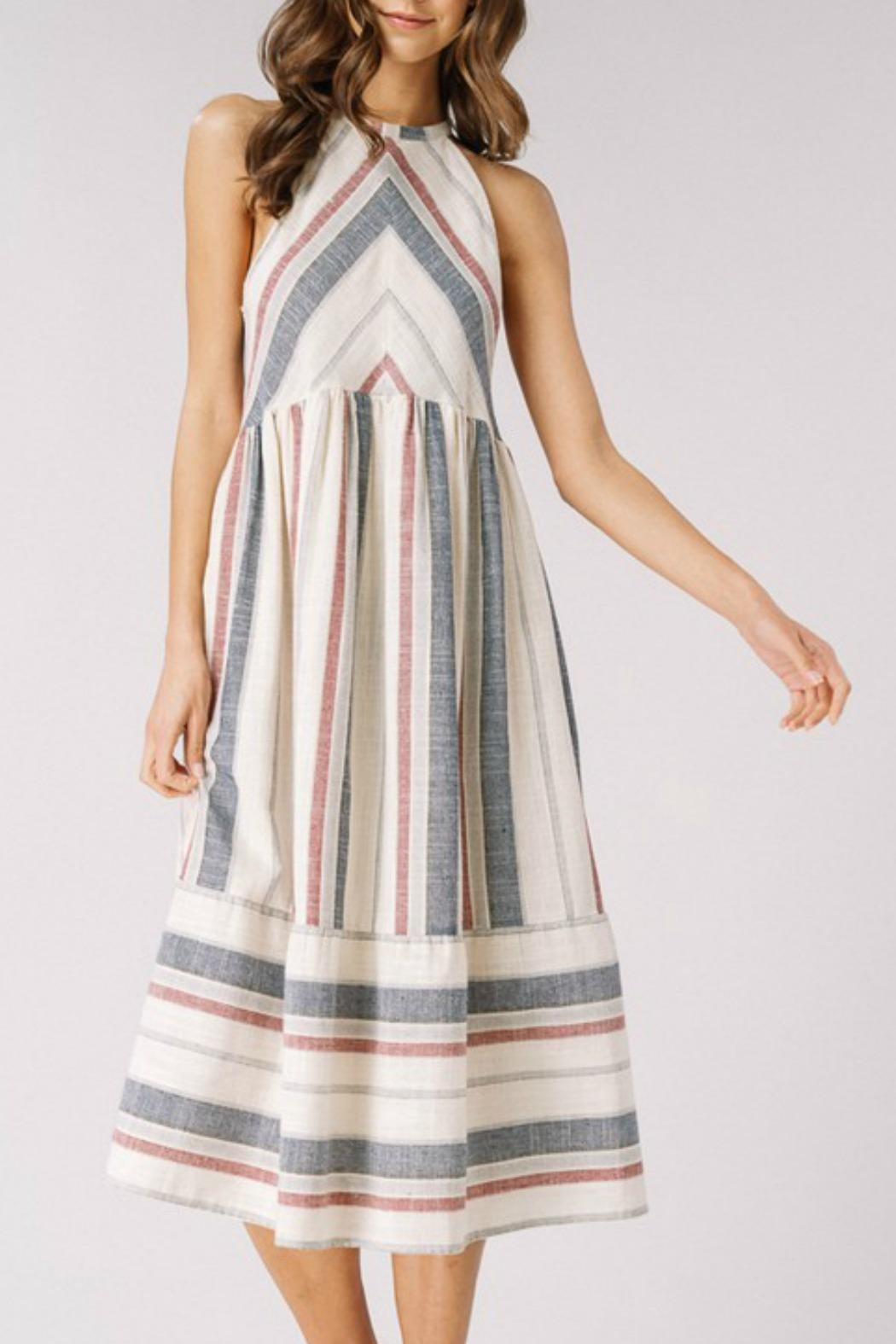 Listicle Spring Chevron Dress - Side Cropped Image