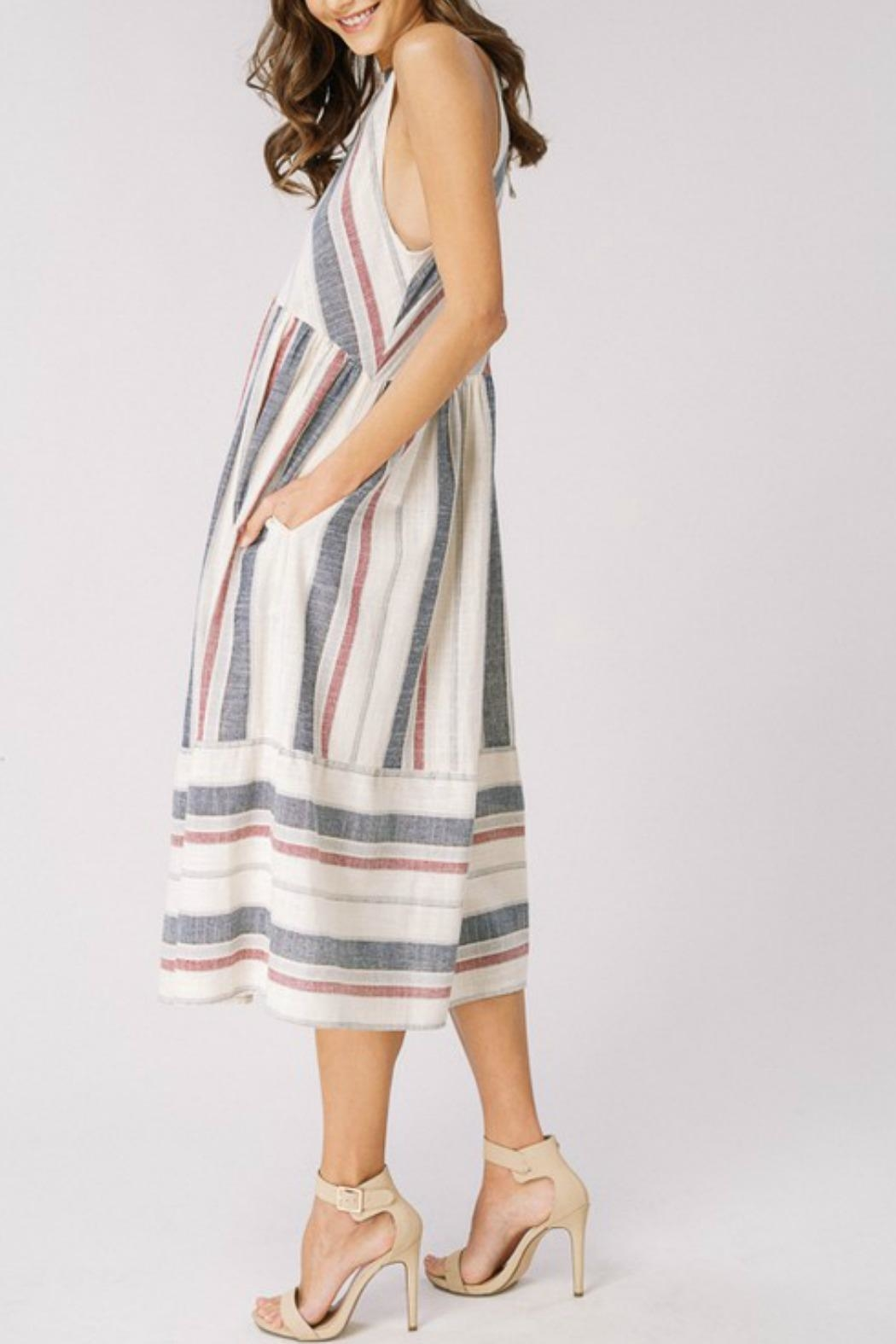 Listicle Spring Chevron Dress - Front Full Image