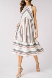 Listicle Spring Chevron Dress - Front cropped