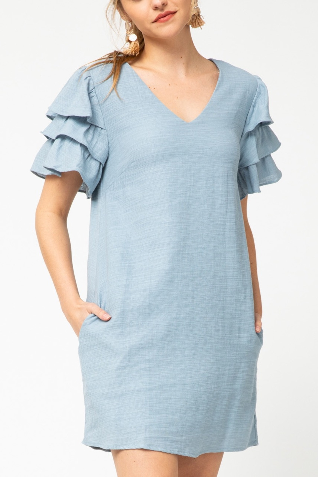 entro  Spring Fab Dress - Front Cropped Image