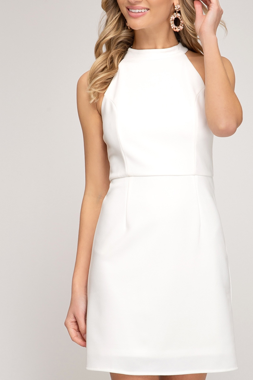 She and Sky Spring Feelings Dress - Front Cropped Image