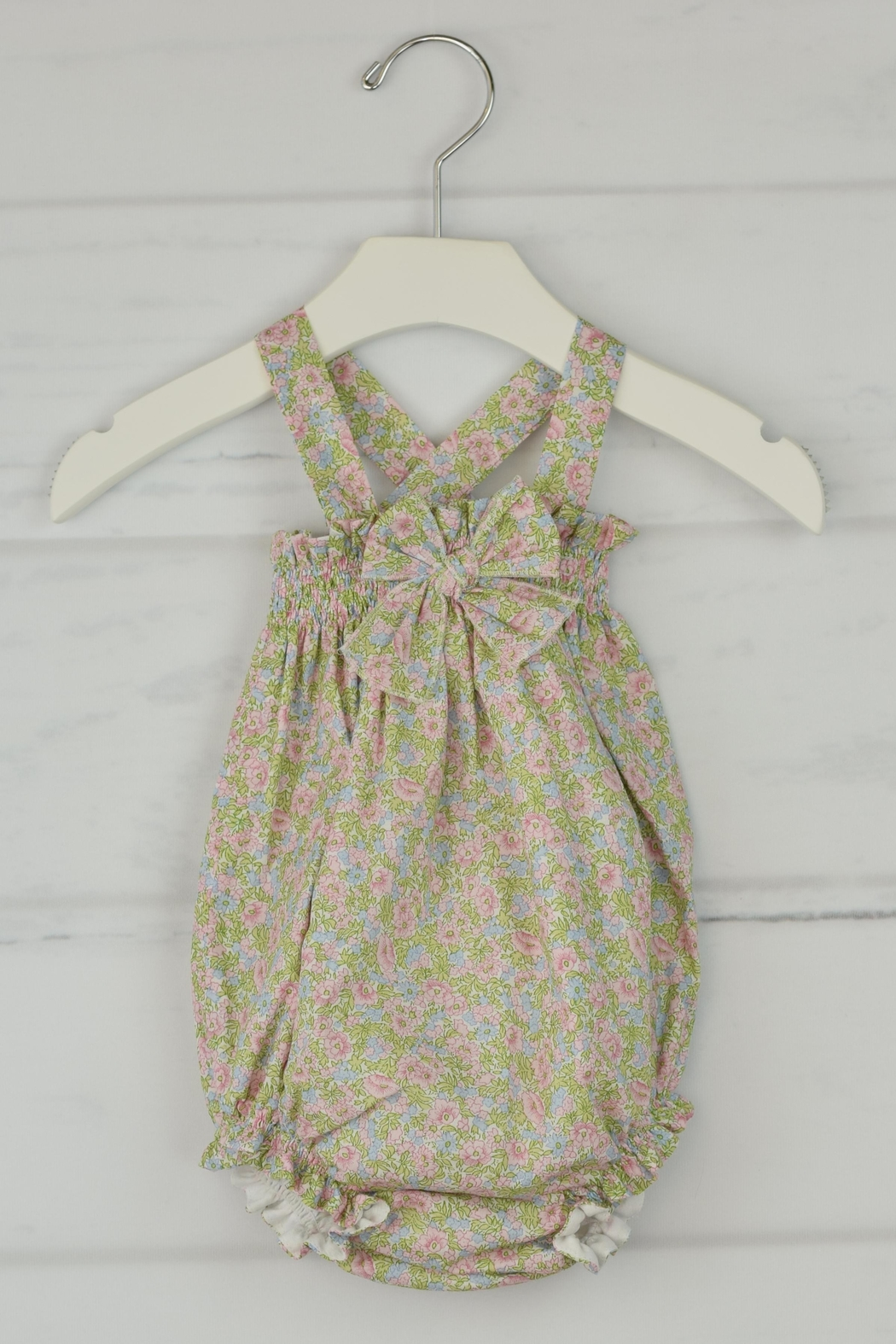 Granlei 1980 Spring Flower Romper - Front Cropped Image
