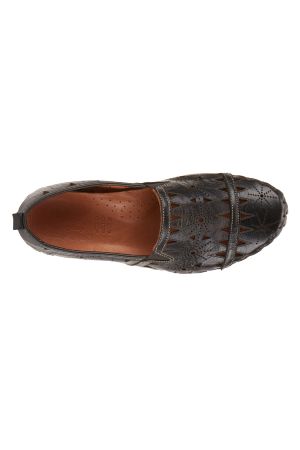 Spring Step  Leather Perforated Slip-On Shoes- Fusaro - Front Full Image