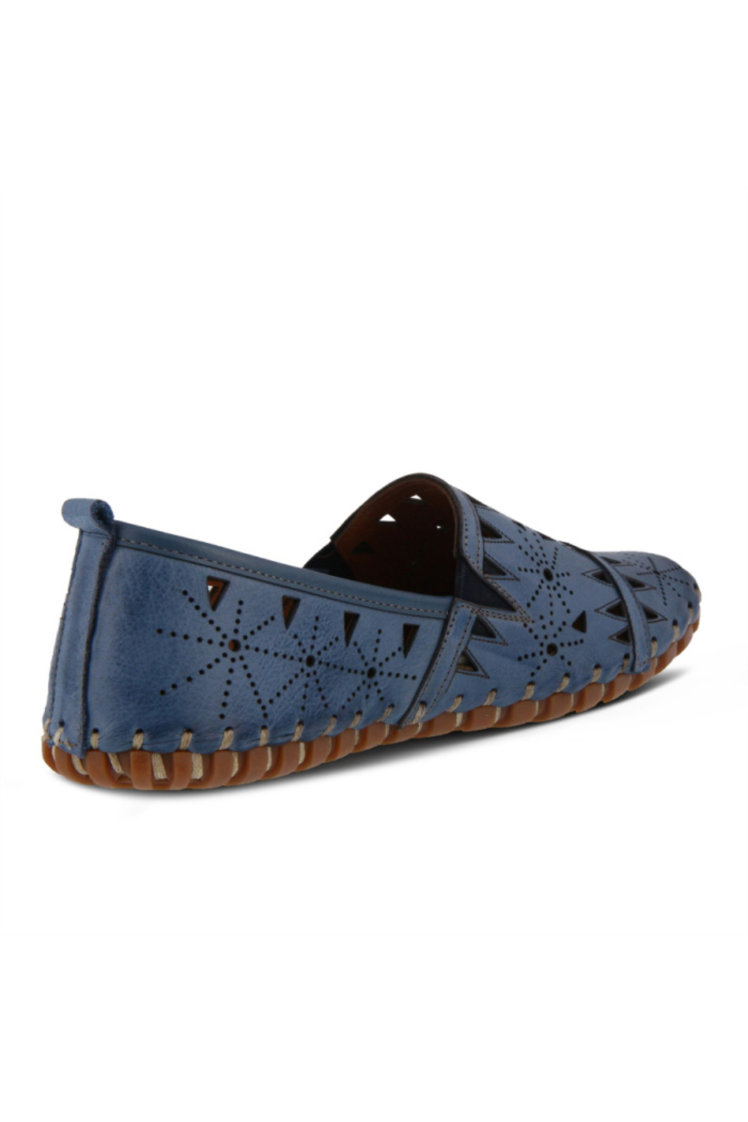 Spring Step  Leather Perforated Slip-On Shoes- Fusaro - Side Cropped Image