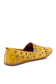 Spring Step  Leather Perforated Slip-On Shoes- Fusaro - Side cropped