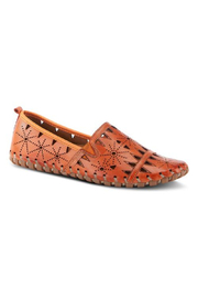 Spring Step  Leather Perforated Slip-On Shoes- Fusaro - Product Mini Image
