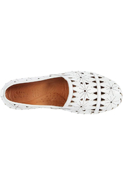 Spring Step  Leather Perforated Slip-On Shoes- Fusaro - Front full body