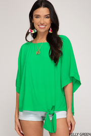 She and Sky Spring Vibes Top - Front cropped