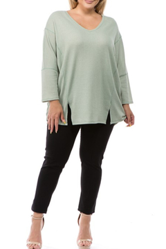 Spin USA Spring Weight Waffle Tunic - Product List Image