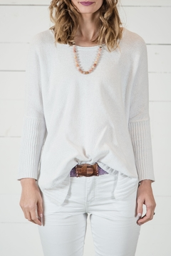 Go Fish Clothing Spring White Sweater - Product List Image