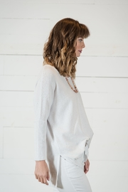 Go Fish Clothing Spring White Sweater - Side cropped